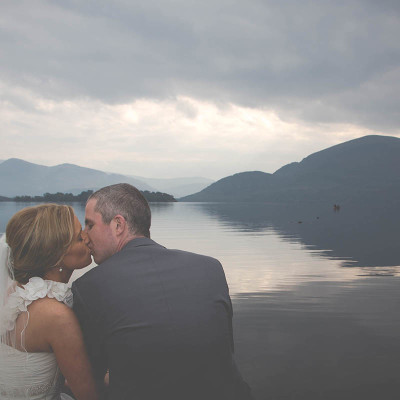 Bride and Groom by Killarney lakes