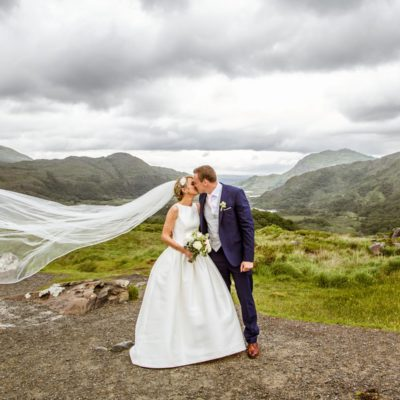 Bride and Groom at Lady's View