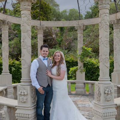 Bride and Groom at Ballyseede Castle