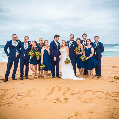Bridal party, the serpentine, sydney, australia