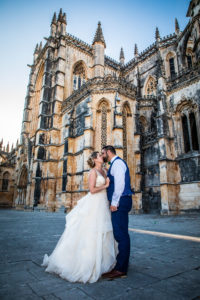 Bride & Groom in front of Batalha Monastery