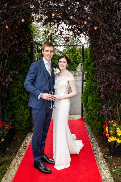 Bride and groom arriving at The Muckross Park Hotel & Spa